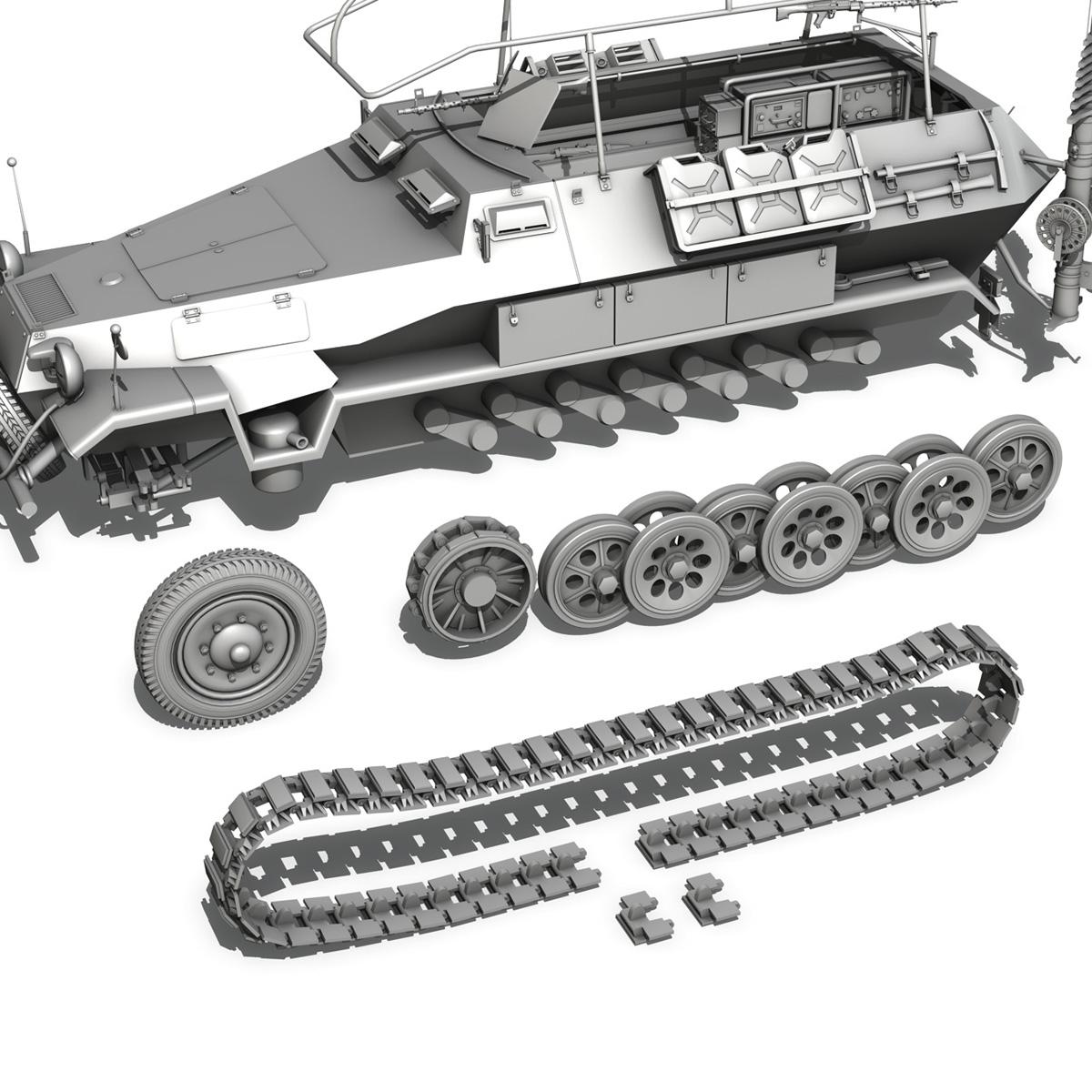 sdkfz 251 ausf.b – communications vehicle 3d model 3ds fbx c4d lwo obj 251699