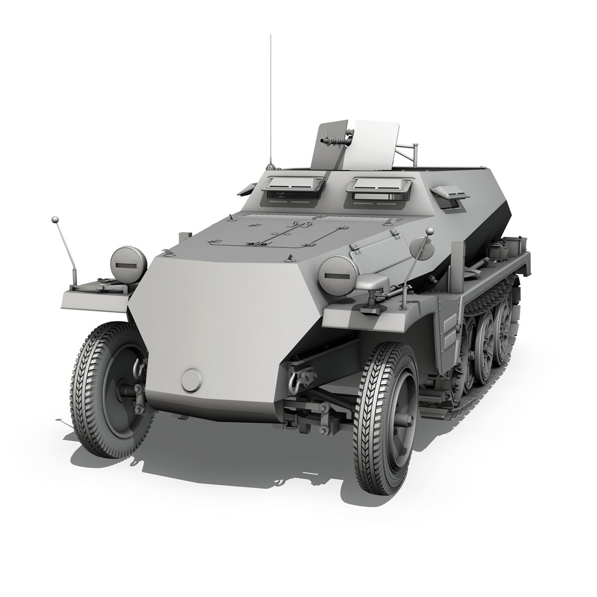 sd.kfz 250 – german halftruck 3d model 3ds fbx c4d lwo obj 251714