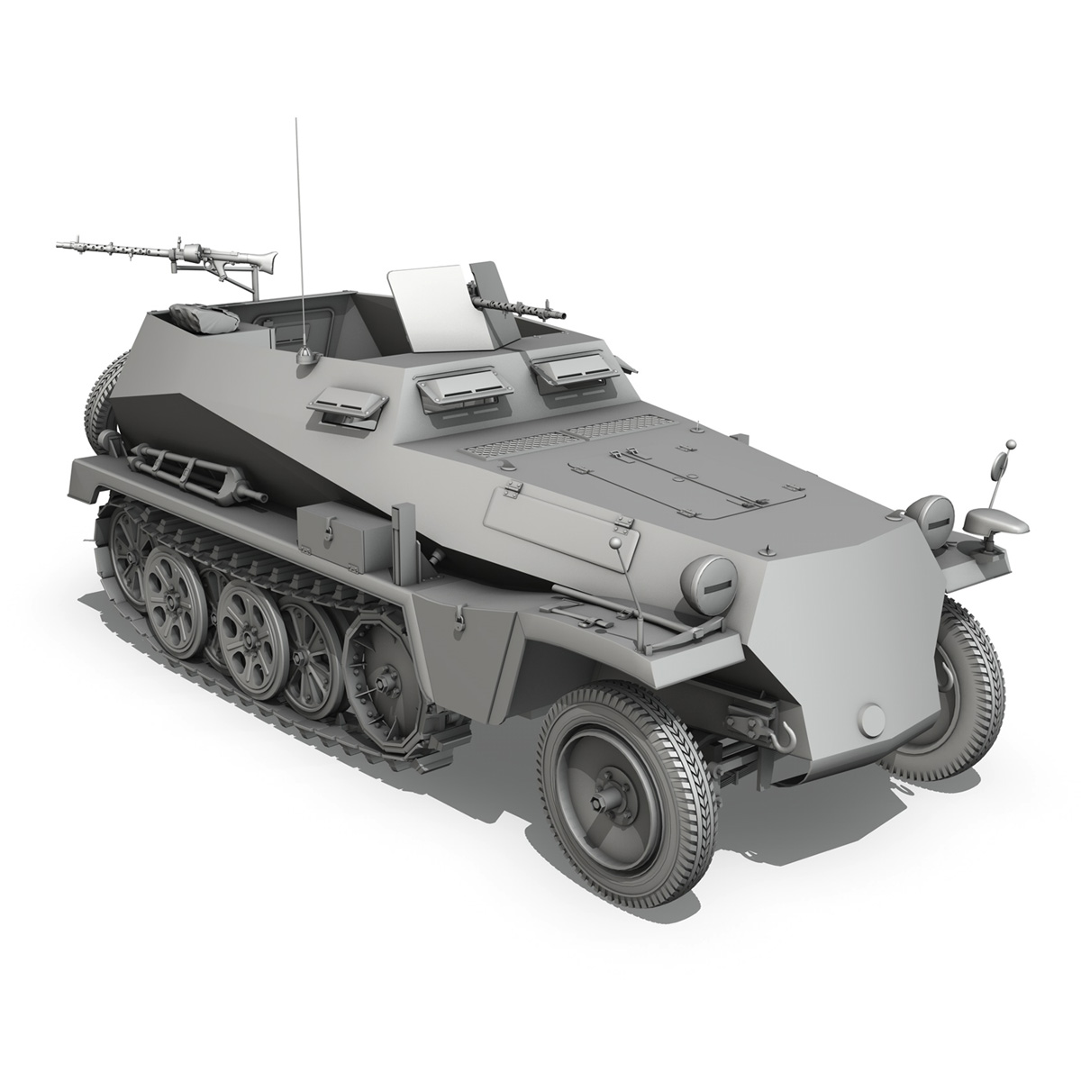 sd.kfz 250 – german halftruck 3d model 3ds fbx c4d lwo obj 251720