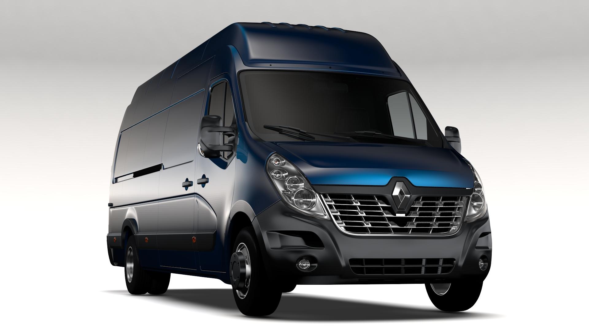 Renault Master L4H3 Van 2017 3d model 3ds max fbx c4d lwo ma mb hrc xsi obj 251779