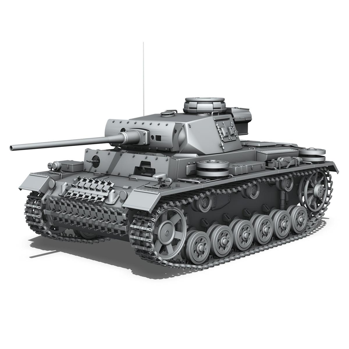 pzkpfw iii – panzerkampfwagen iii – ausf.l 3d model 3ds fbx c4d lwo obj 252155