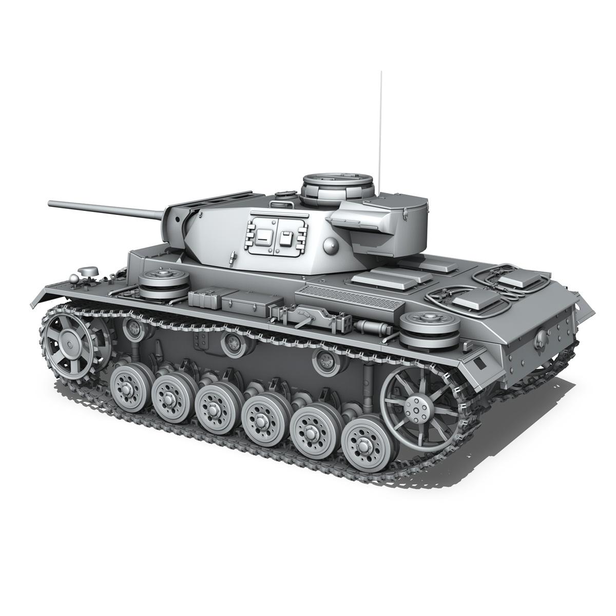 pzkpfw iii – panzerkampfwagen iii – ausf.l 3d model 3ds fbx c4d lwo obj 252157