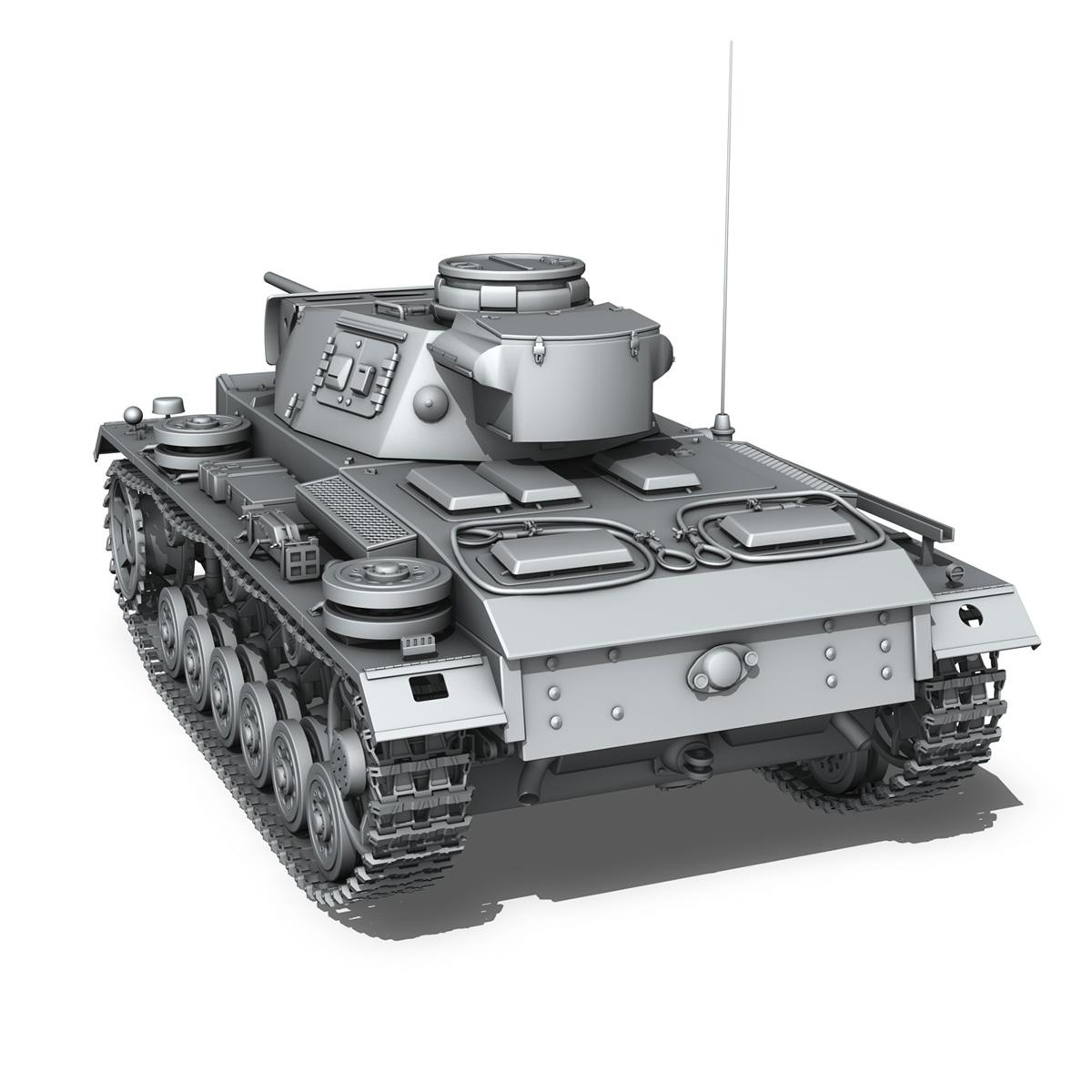 pzkpfw iii – panzerkampfwagen iii – ausf.l 3d model 3ds fbx c4d lwo obj 252158