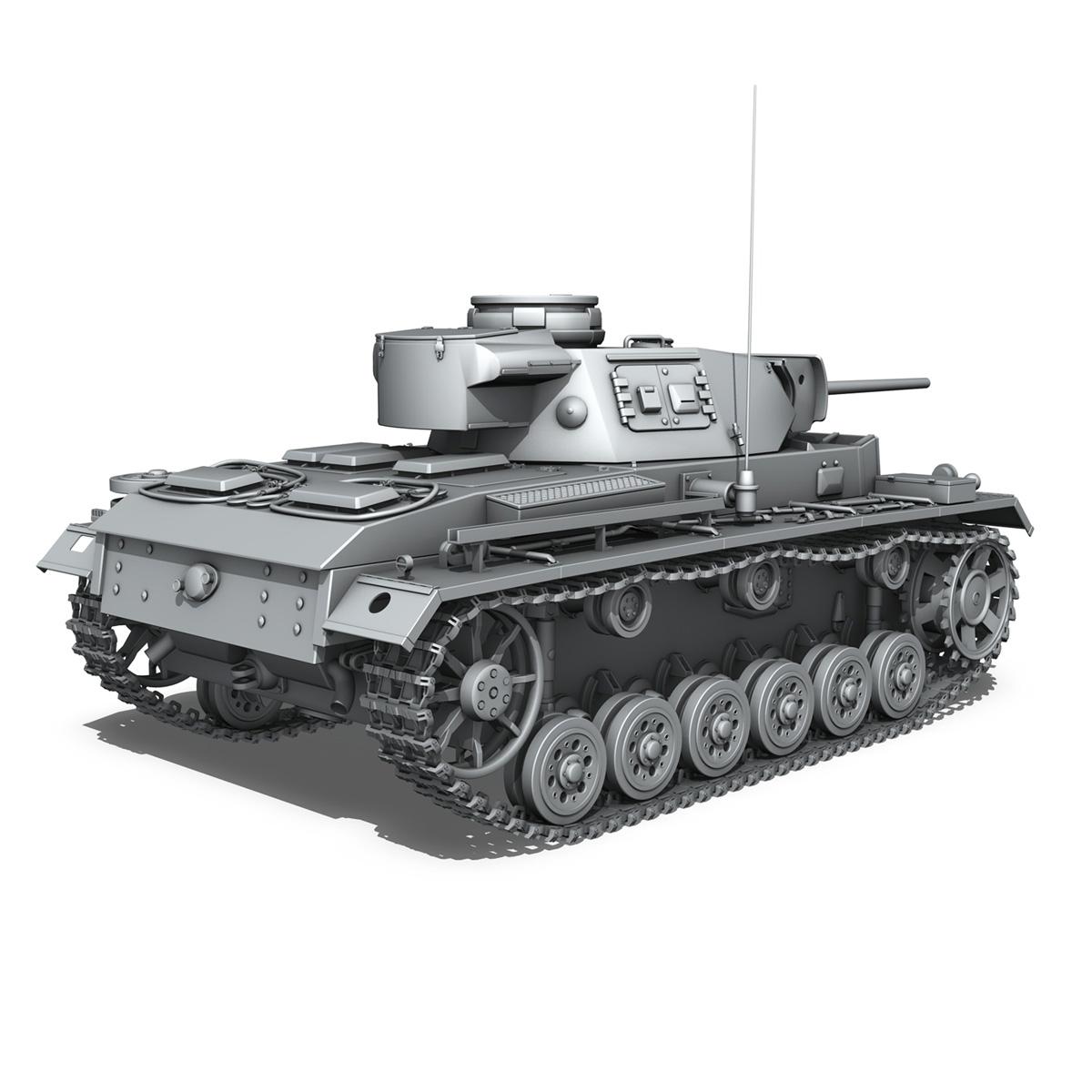 pzkpfw iii – panzerkampfwagen iii – ausf.l 3d model 3ds fbx c4d lwo obj 252159