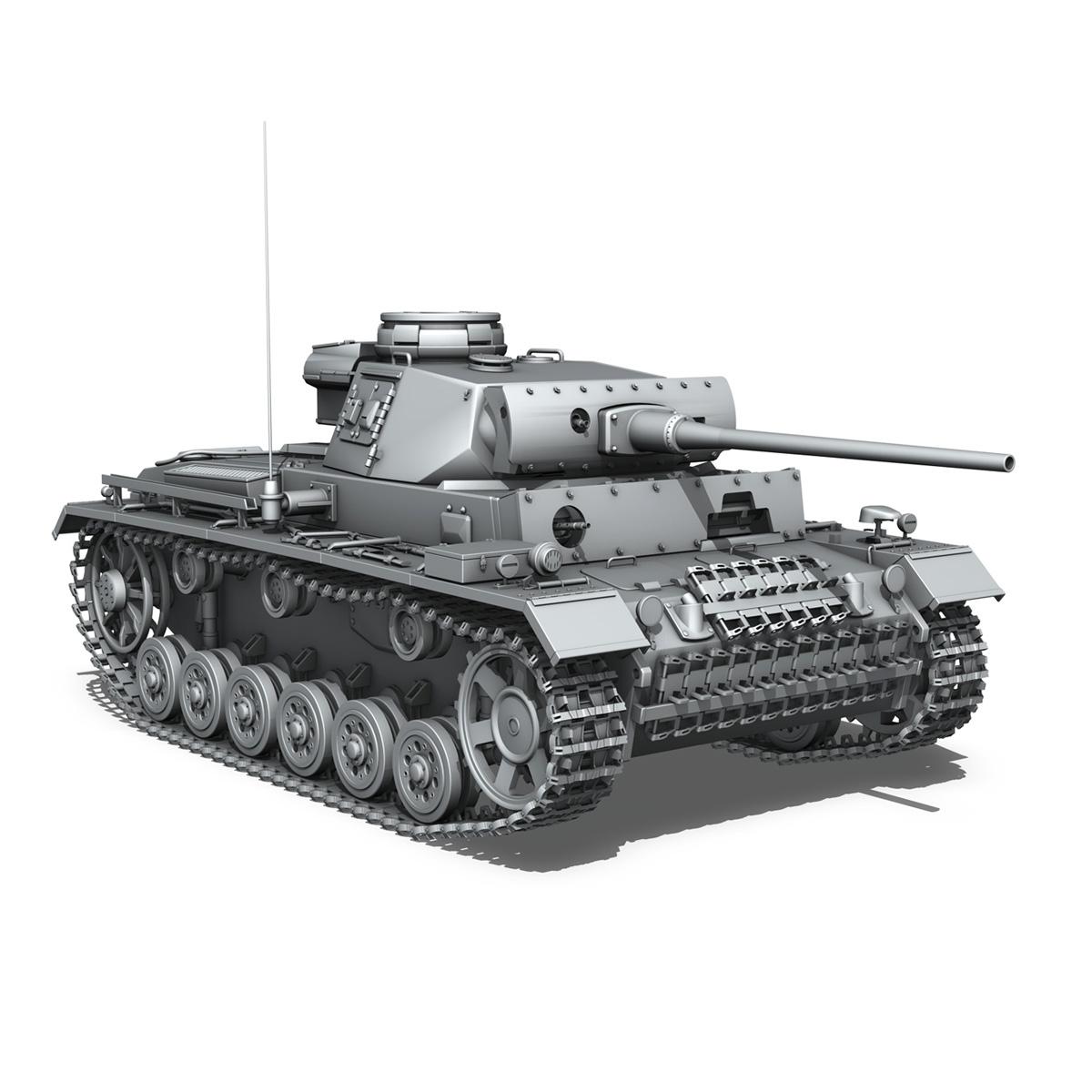 pzkpfw iii – panzerkampfwagen iii – ausf.l 3d model 3ds fbx c4d lwo obj 252160