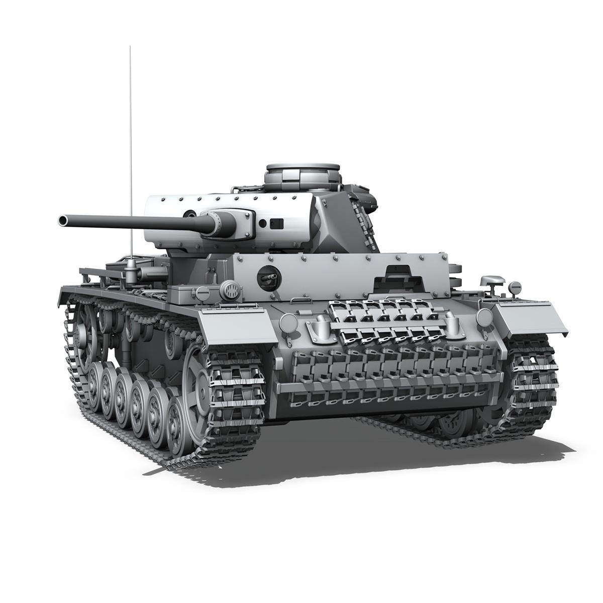 pzkpfw iii – panzerkampfwagen iii – ausf.l 3d model 3ds fbx c4d lwo obj 252161