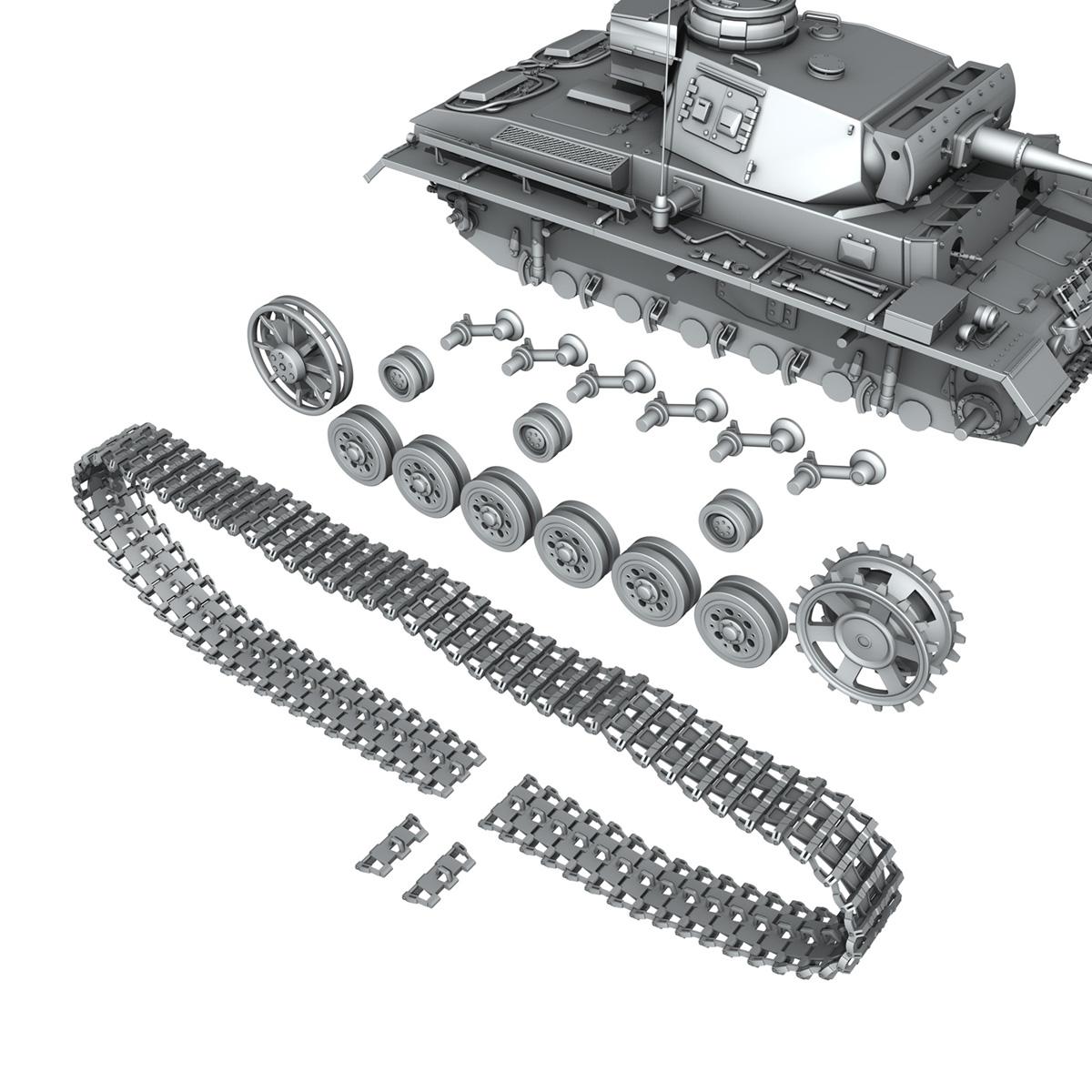 pzkpfw iii – panzerkampfwagen iii – ausf.l 3d model 3ds fbx c4d lwo obj 252162