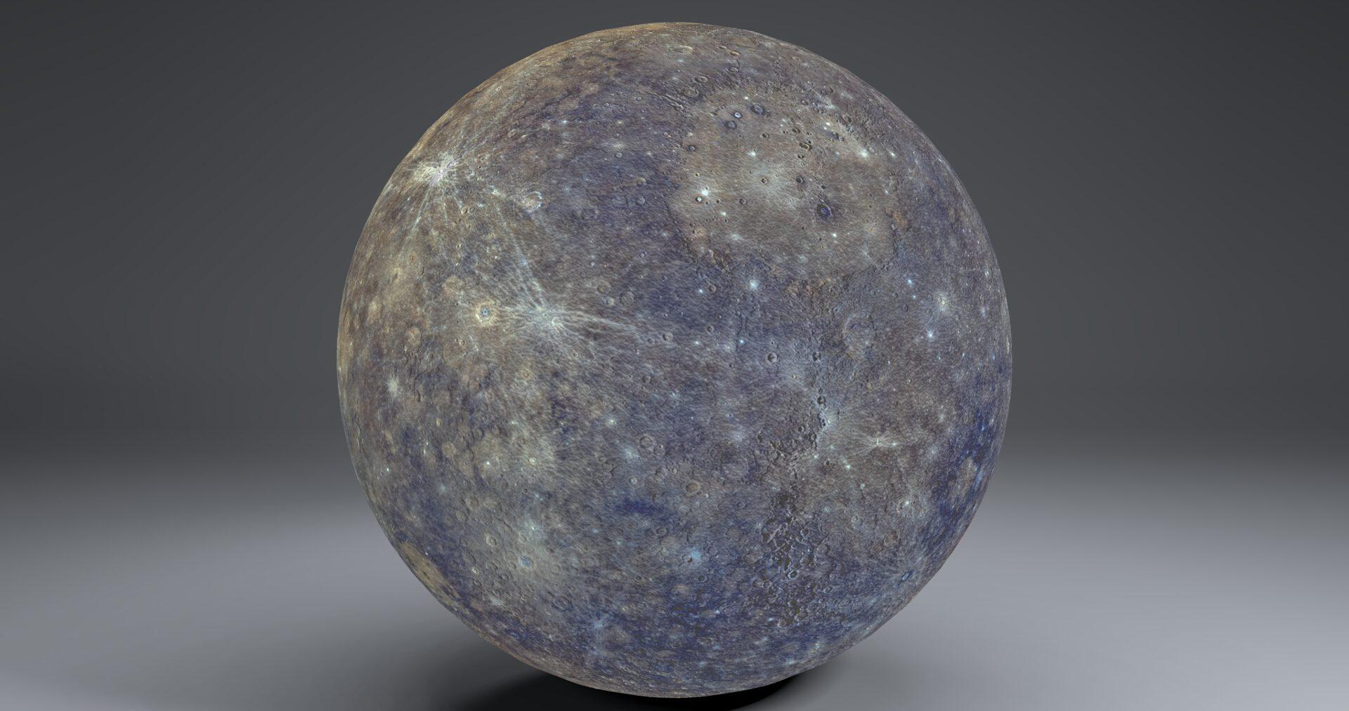 mercury 4k globe 3d model 3ds fbx blend dae obj 252190