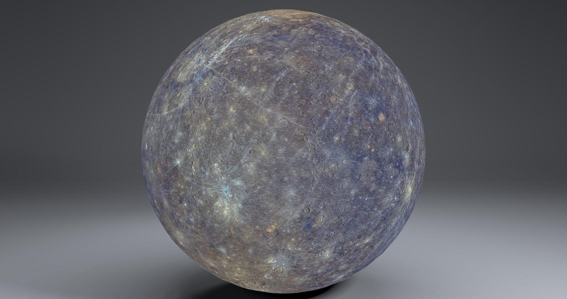 mercury 4k globe 3d model 3ds fbx blend dae obj 252193