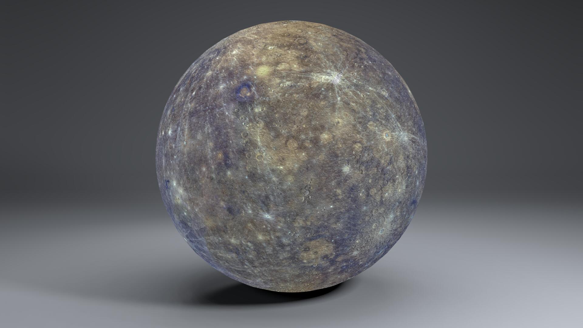 mercury 4k globe 3d model 3ds fbx blend dae obj 252198