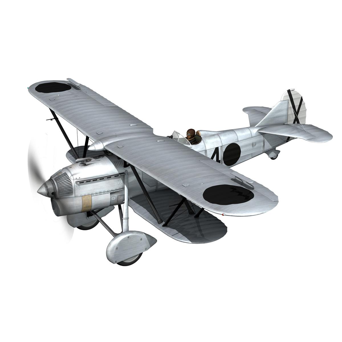 fiat cr.32 - Италийн агаарын хүчний - бүлгийн баллари 3d загвар fbx c4d lwo obj 252212