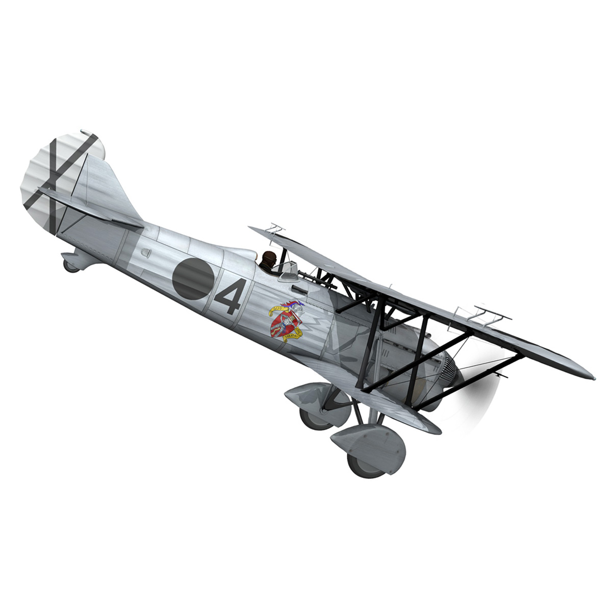 fiat cr.32 – italy air force – gruppo baleari 3d model fbx c4d lwo obj 252213