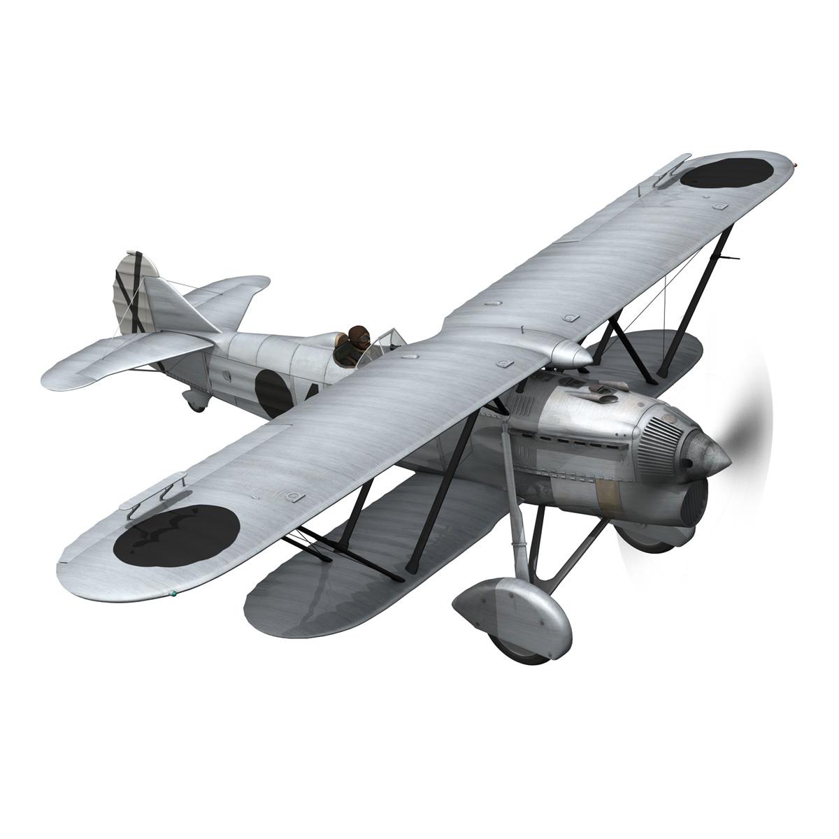 fiat cr.32 - Италийн агаарын хүчний - бүлгийн баллари 3d загвар fbx c4d lwo obj 252214