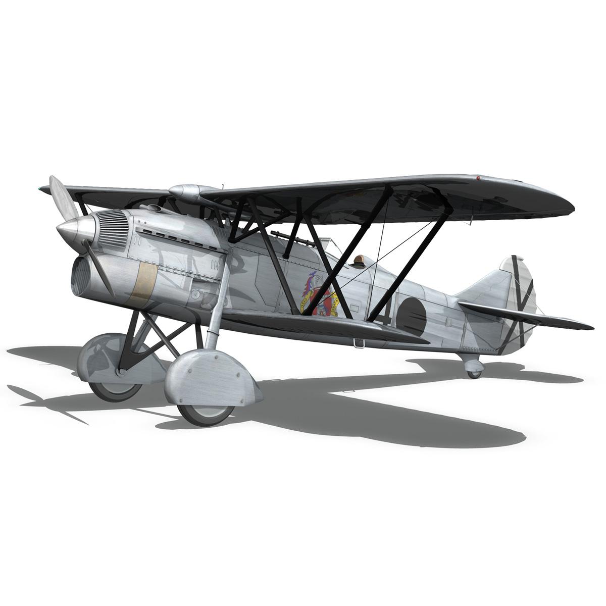 fiat cr.32 - Италийн агаарын хүчний - бүлгийн баллари 3d загвар fbx c4d lwo obj 252216