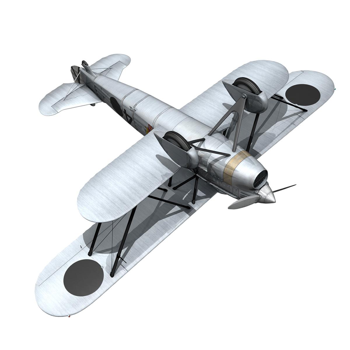 fiat cr.32 - Италийн агаарын хүчний - бүлгийн баллари 3d загвар fbx c4d lwo obj 252218
