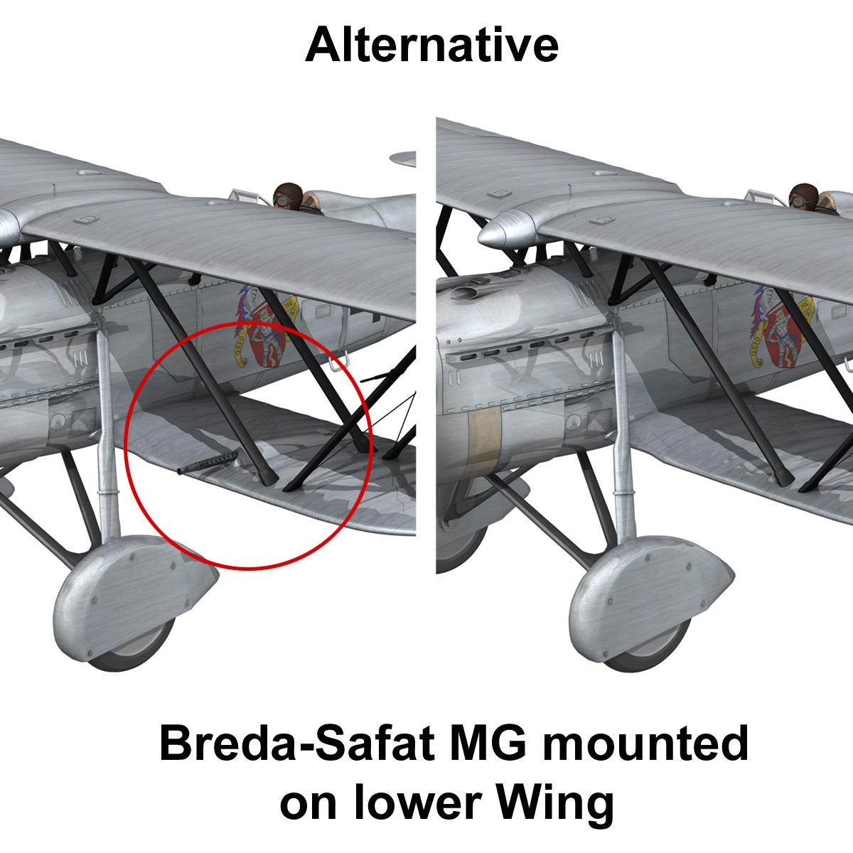 fiat cr.32 – italy air force – gruppo baleari 3d model fbx c4d lwo obj 252219
