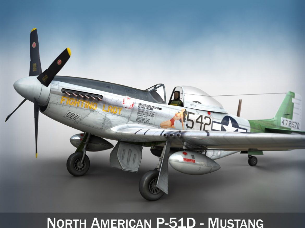 North American P-51D Mustang - Fighting Lady ( 268.04KB jpg by Panaristi )