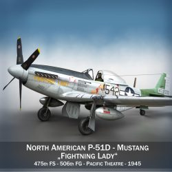 North American P-51D Mustang - Fighting Lady 3d model 0