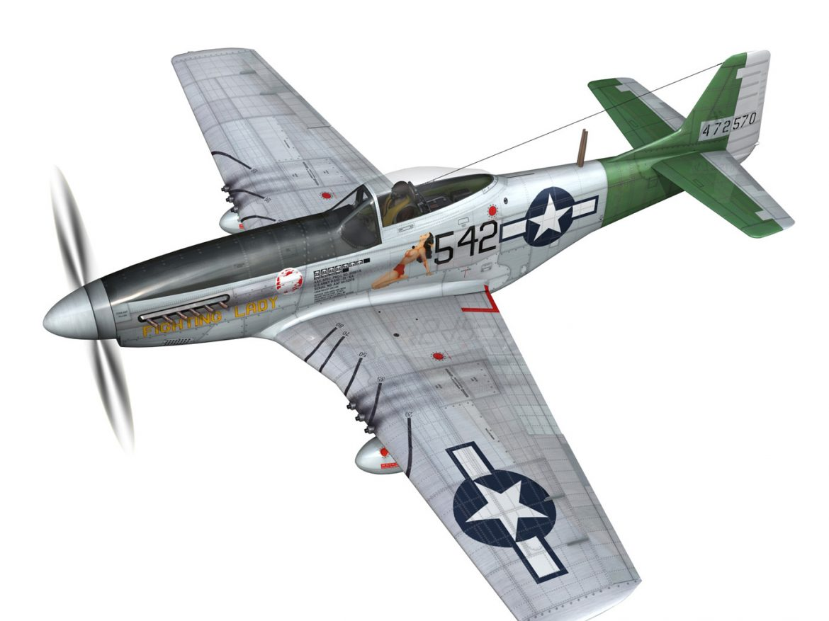 North American P-51D Mustang - Fighting Lady ( 240.78KB jpg by Panaristi )