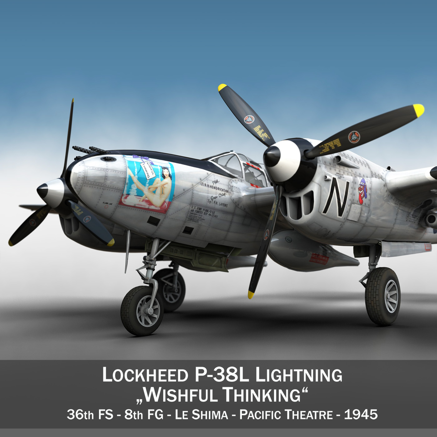lockheed p-38 lightning – wishful thinking 3d model fbx c4d lwo obj 252244