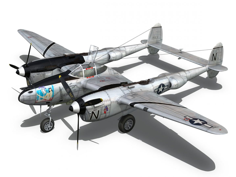 Lockheed P-38 Lightning - Wishful Thinking ( 225.44KB jpg by Panaristi )