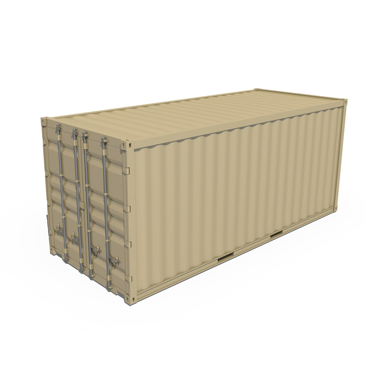 20ft shipping container 3d model 3ds fbx c4d lwo obj 252256