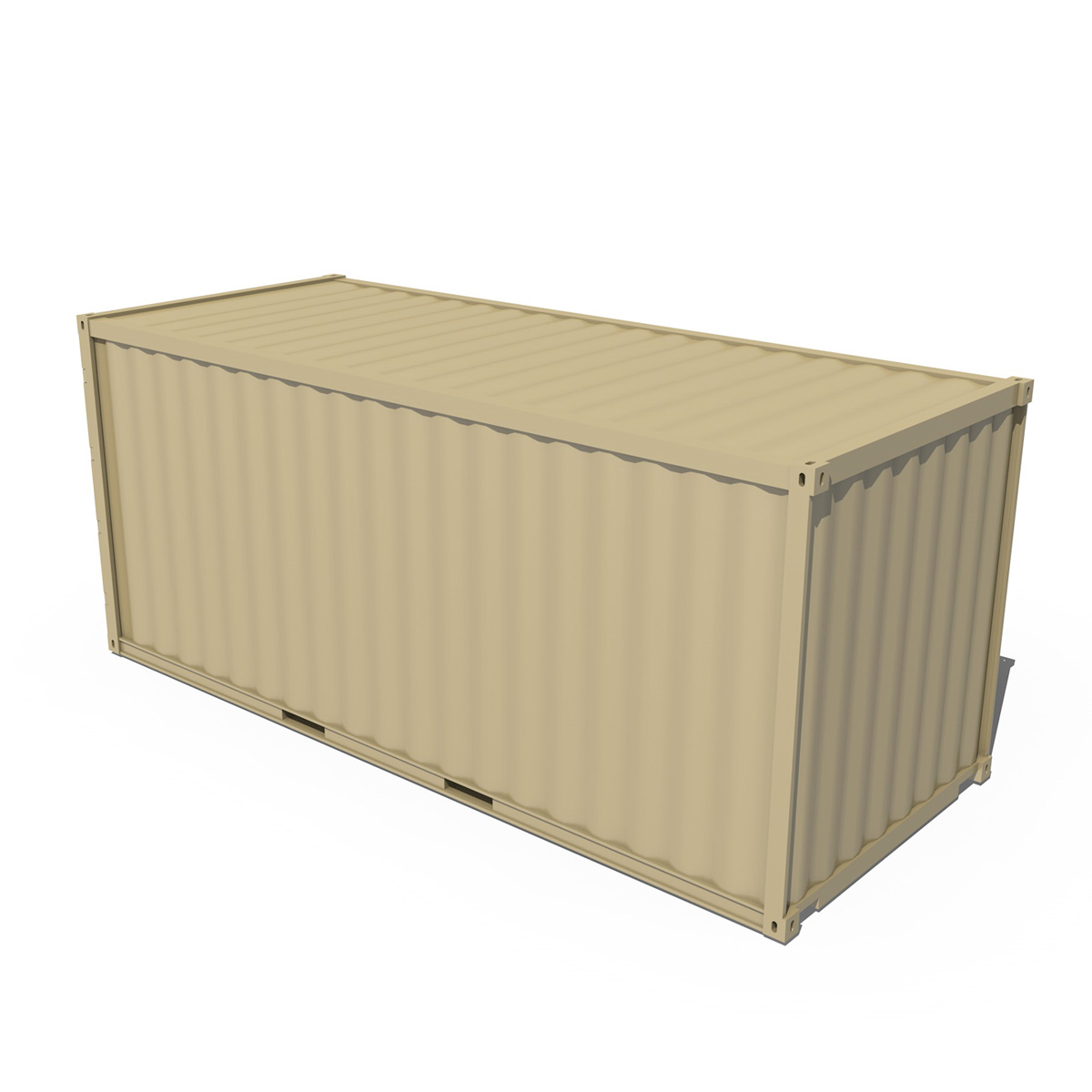 20ft shipping container 3d model 3ds fbx c4d lwo obj 252257