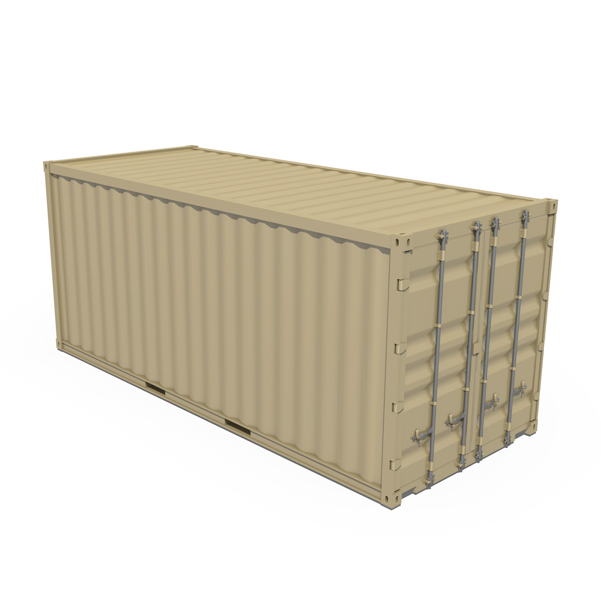20ft shipping container 3d model 3ds fbx c4d lwo obj 252259