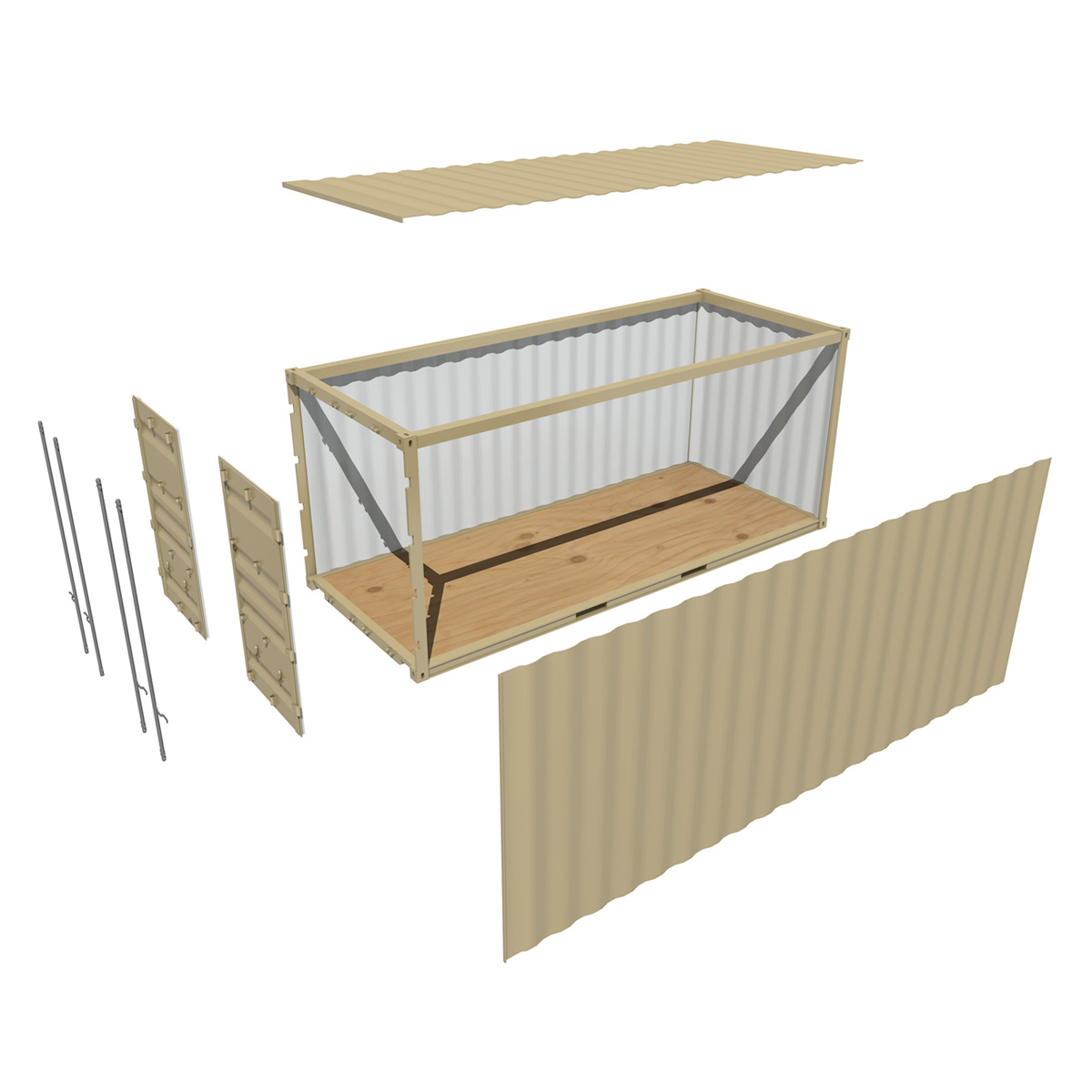 20ft shipping container 3d model 3ds fbx c4d lwo obj 252260