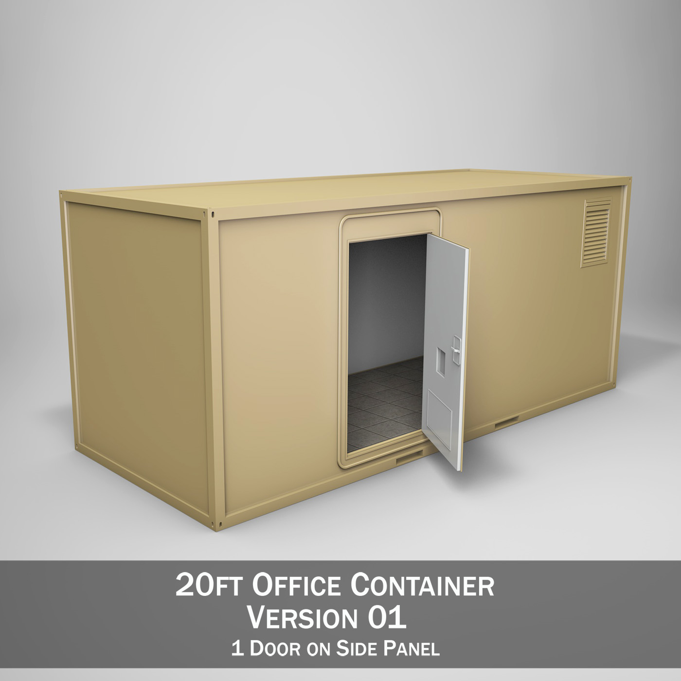20ft office container version one 3d model 3ds fbx c4d lwo obj 252264