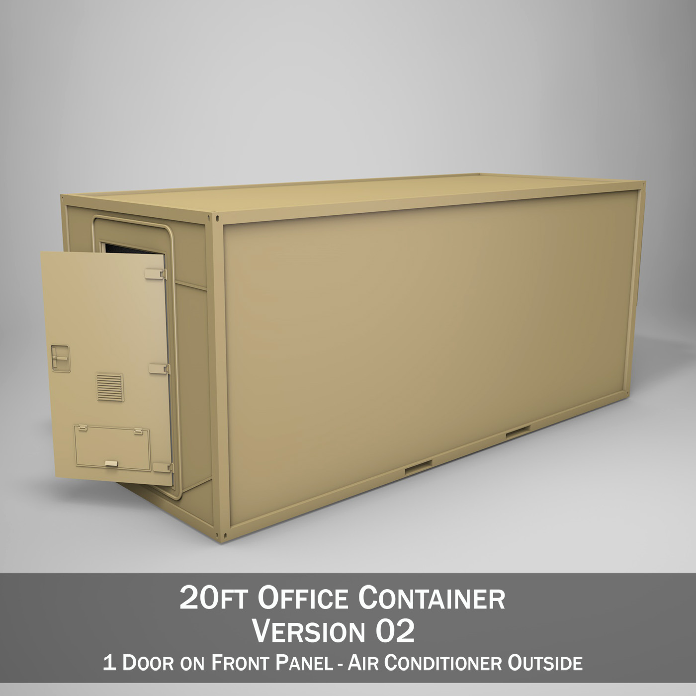 20ft Office Container Version zwei 3d Modell 3ds fbx c4d lwo obj 252273