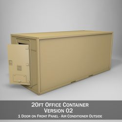 20ft Office Container Version 2 3d model 0