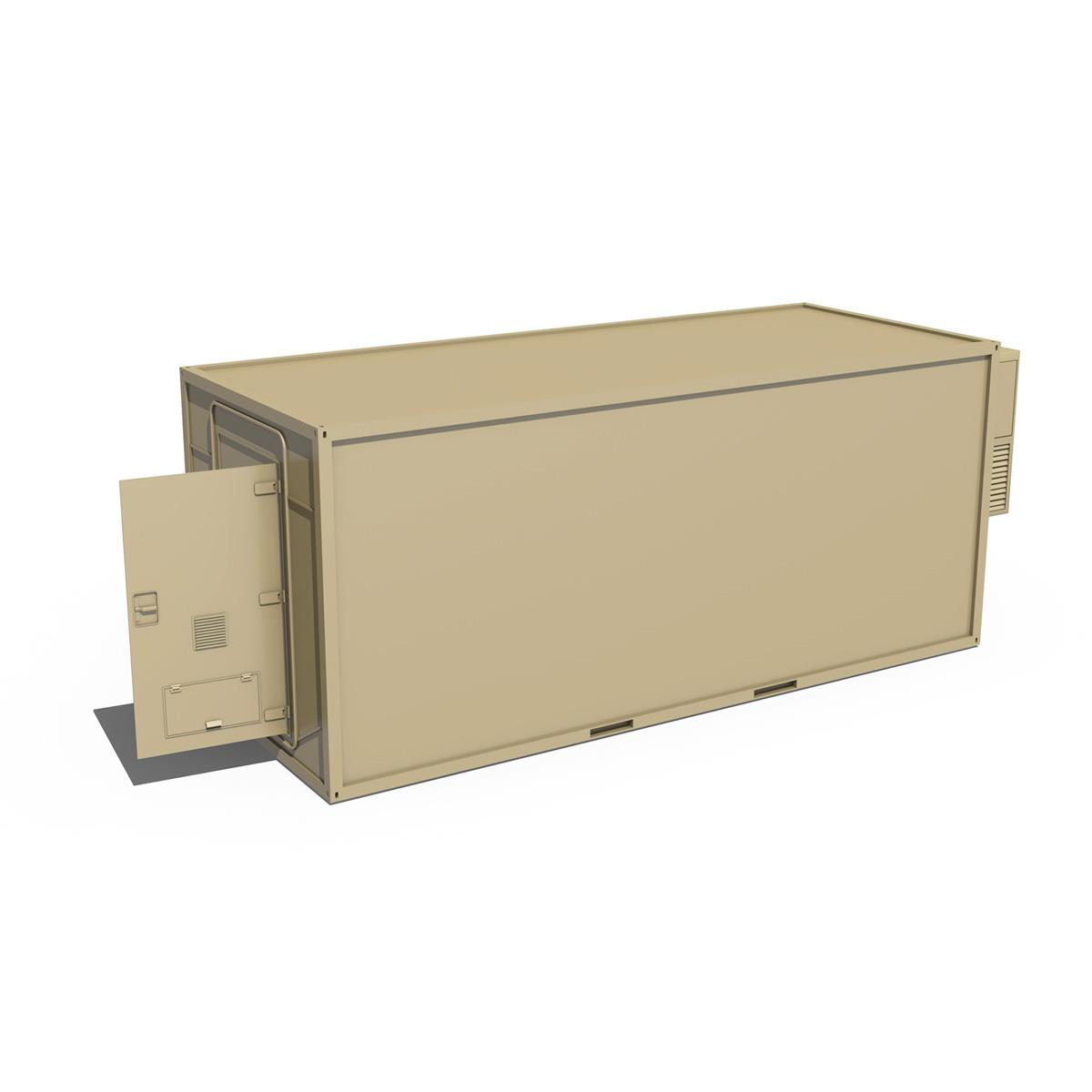 20ft office container version two 3d model 3ds fbx c4d lwo obj 252274