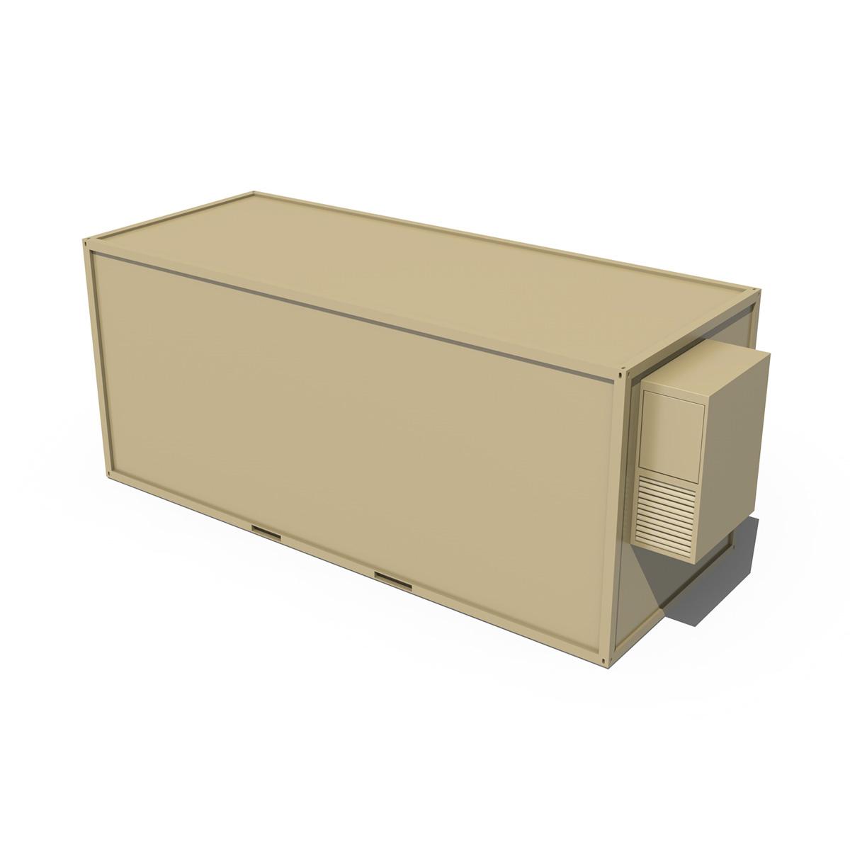 20ft office container version two 3d model 3ds fbx c4d lwo obj 252275