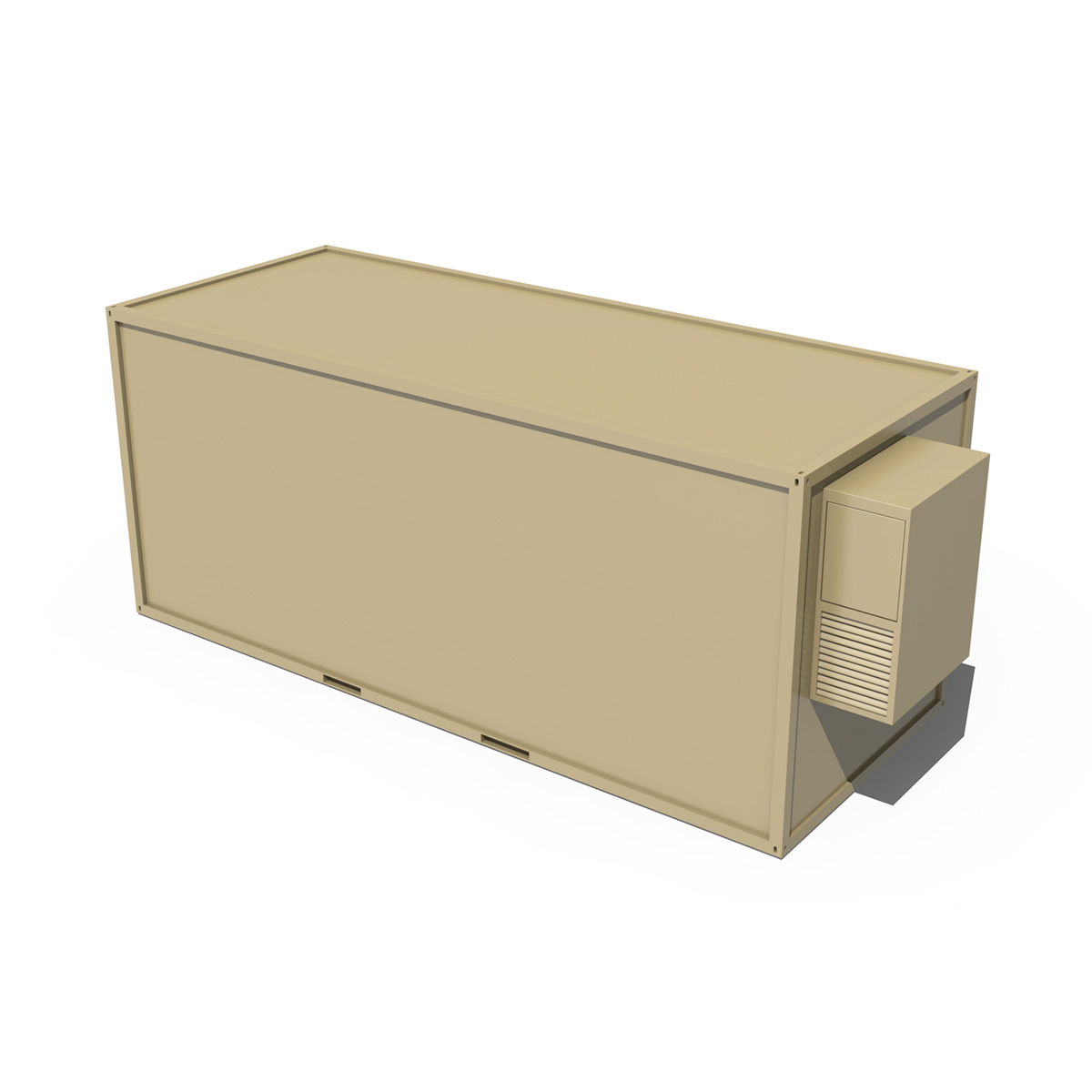 20ft ofis konteyner versiyası iki 3d model 3ds fbx c4d lwo obj 252275