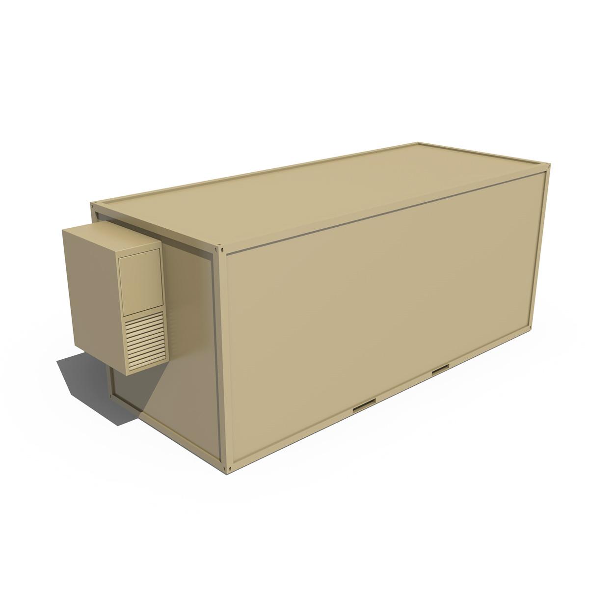 20ft ofis konteyner versiyası iki 3d model 3ds fbx c4d lwo obj 252276