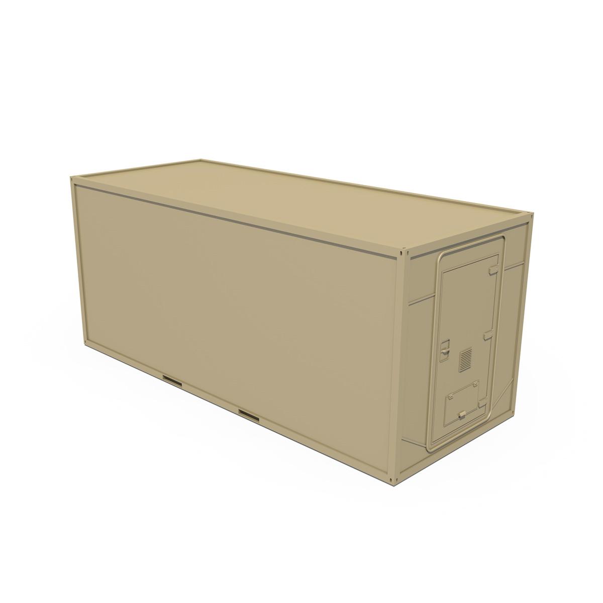 20ft office container version two 3d model 3ds fbx c4d lwo obj 252277