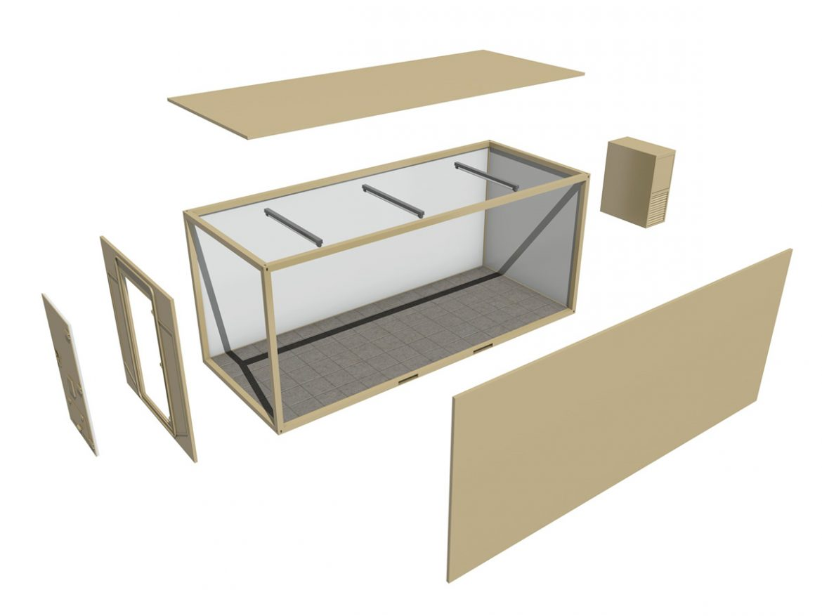 20ft Office Container Version 2 ( 143.15KB jpg by Panaristi )