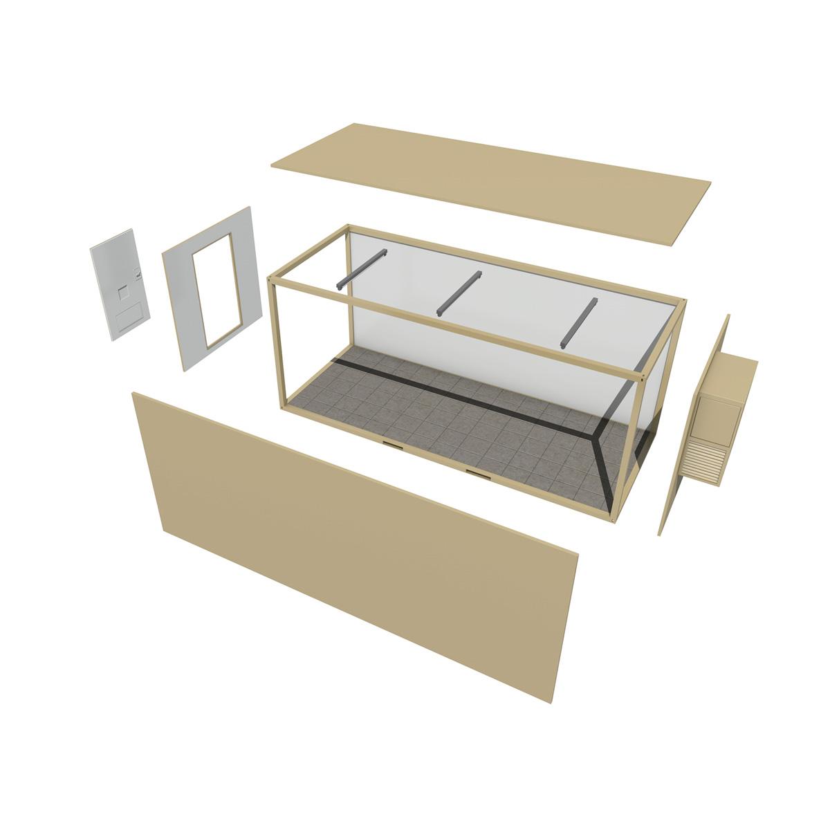 20ft office container version two 3d model 3ds fbx c4d lwo obj 252279