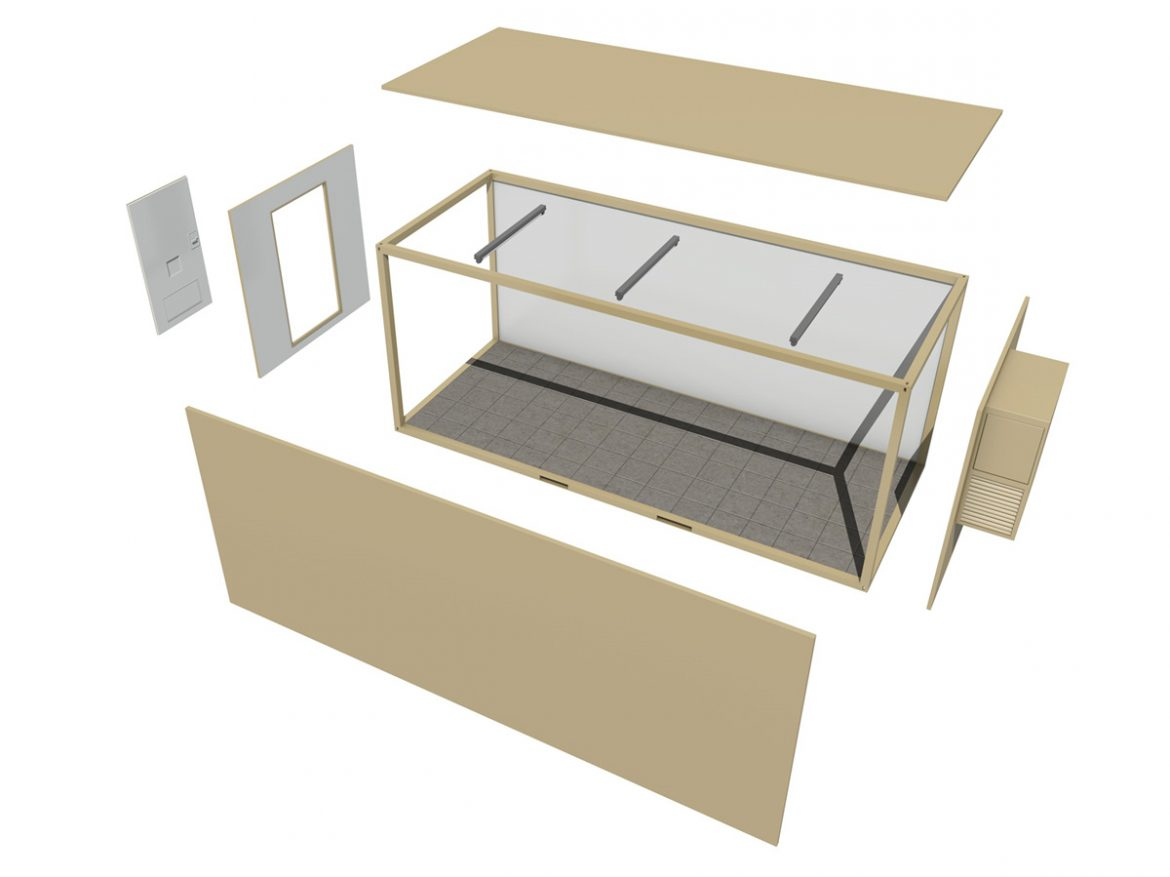 20ft Office Container Version 2 ( 145.21KB jpg by Panaristi )