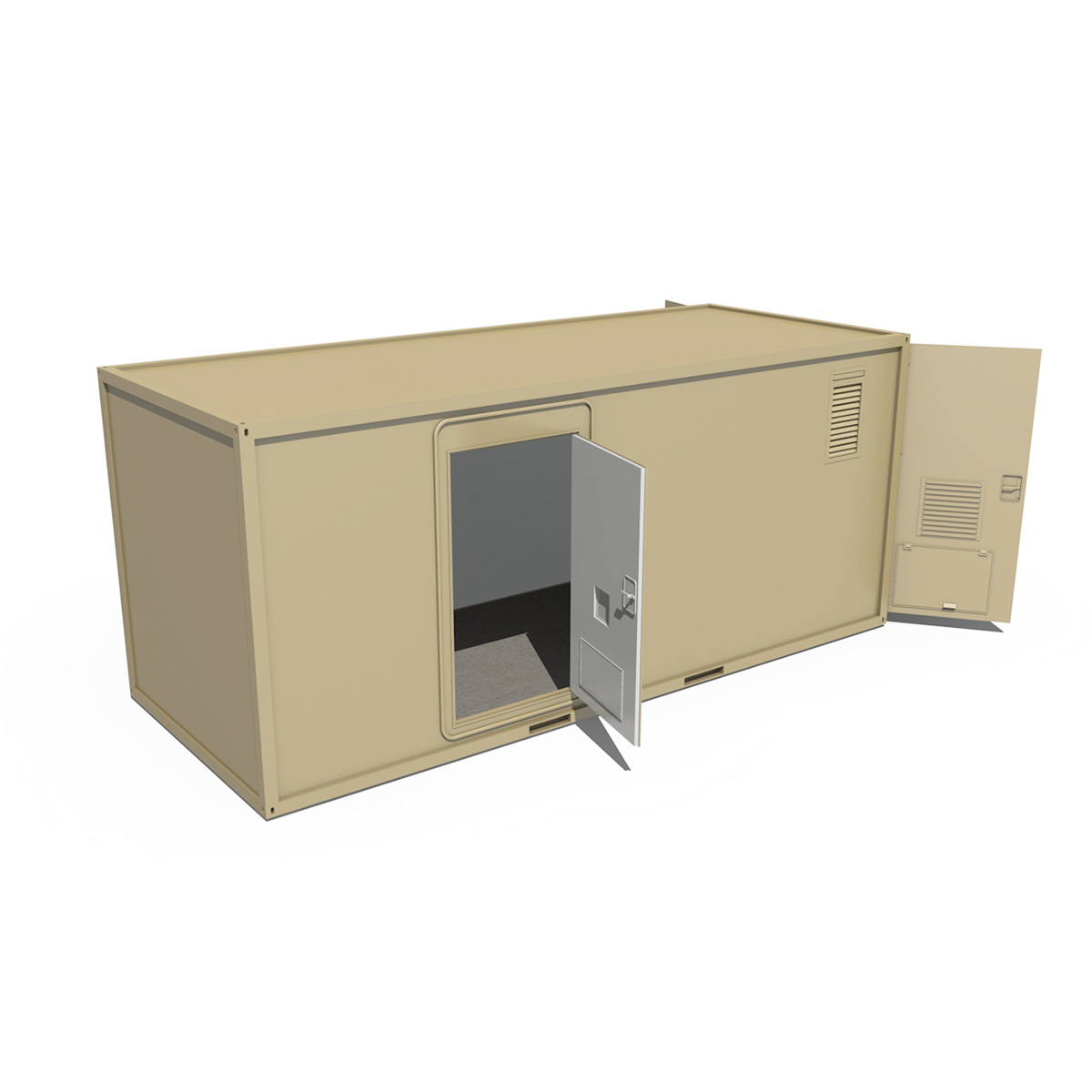 20ft office container version three 3d model 3ds fbx c4d lwo obj 252287