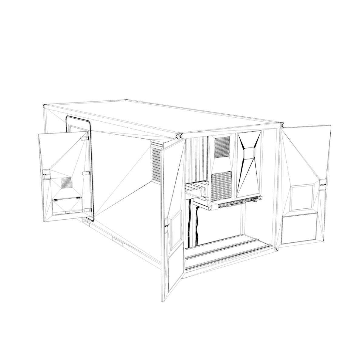 20ft office container version three 3d model 3ds fbx c4d lwo obj 252289