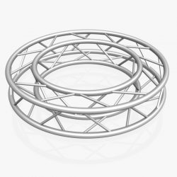 Circle Square Truss Full diameter 150cm 3d model 3ds max fbx c4d dae  obj