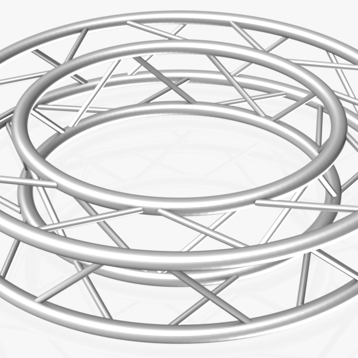 circle square truss full diameter 150cm 3d model 3ds max fbx c4d dae  obj 252293