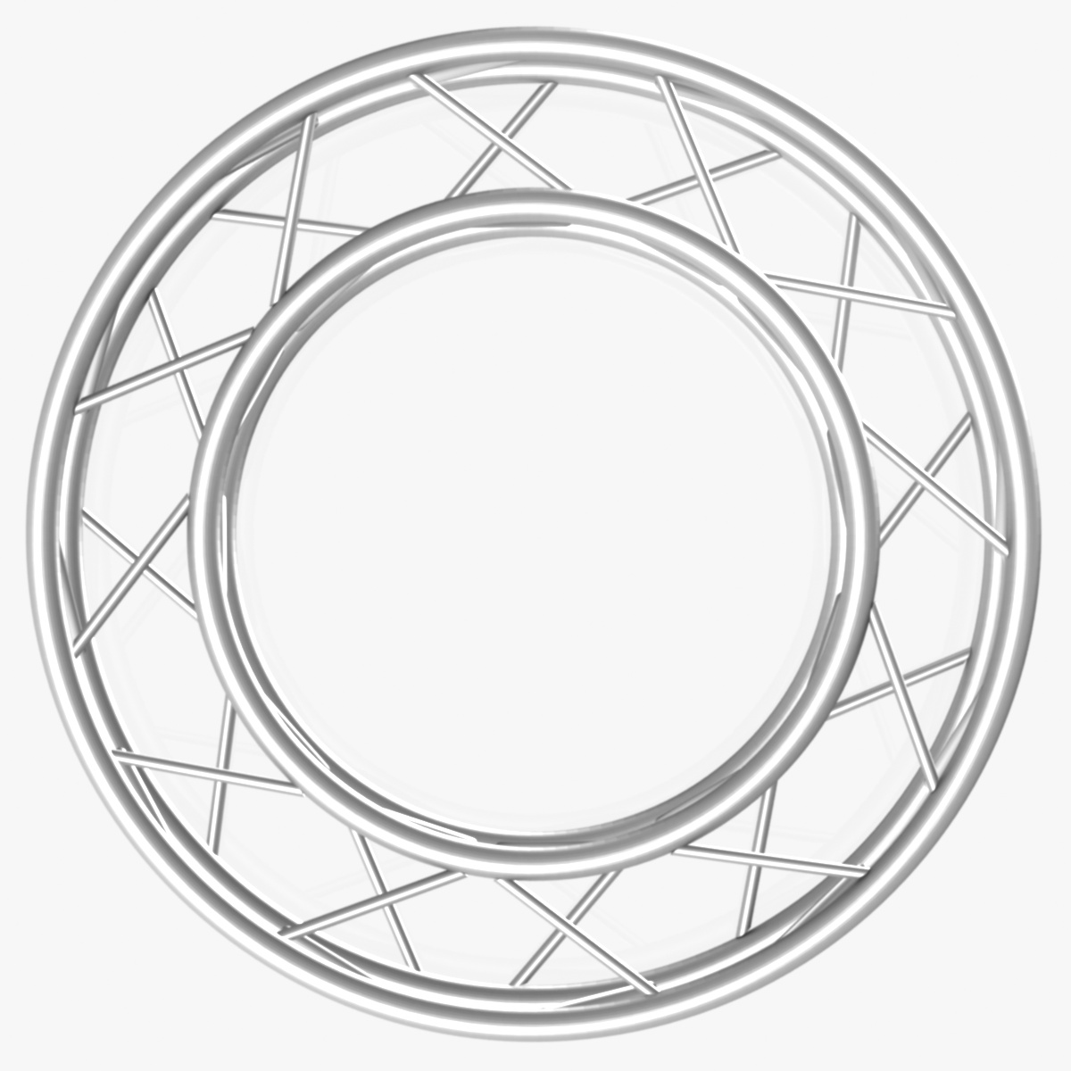 circle square truss full diameter 150cm 3d model 3ds max fbx c4d dae  obj 252294