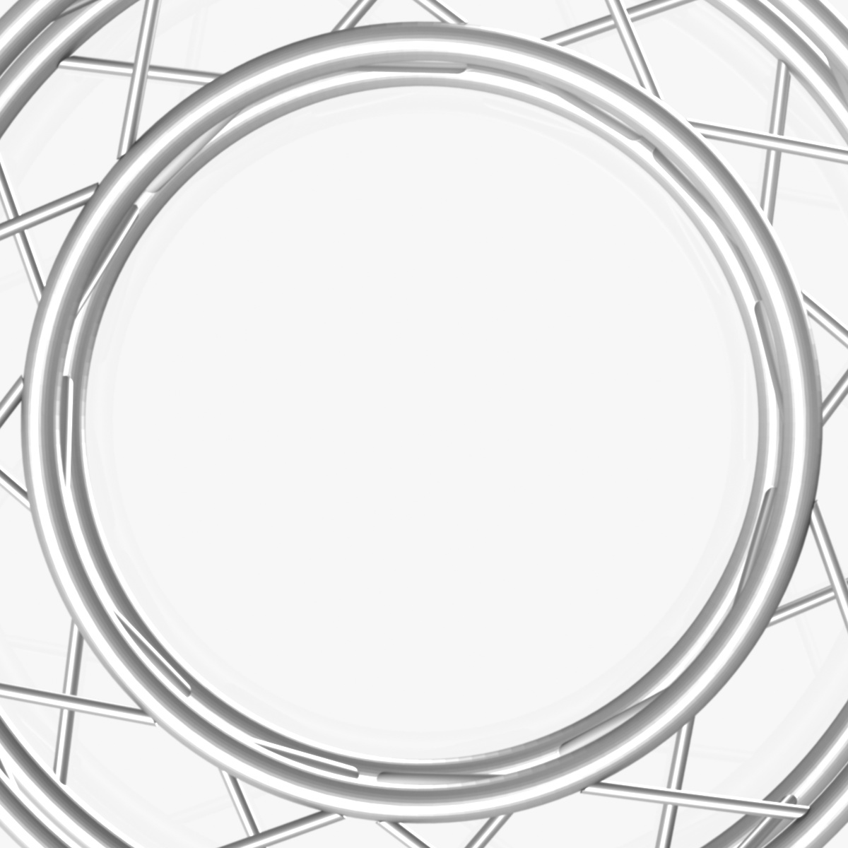 circle square truss full diameter 150cm 3d model 3ds max fbx c4d dae  obj 252297