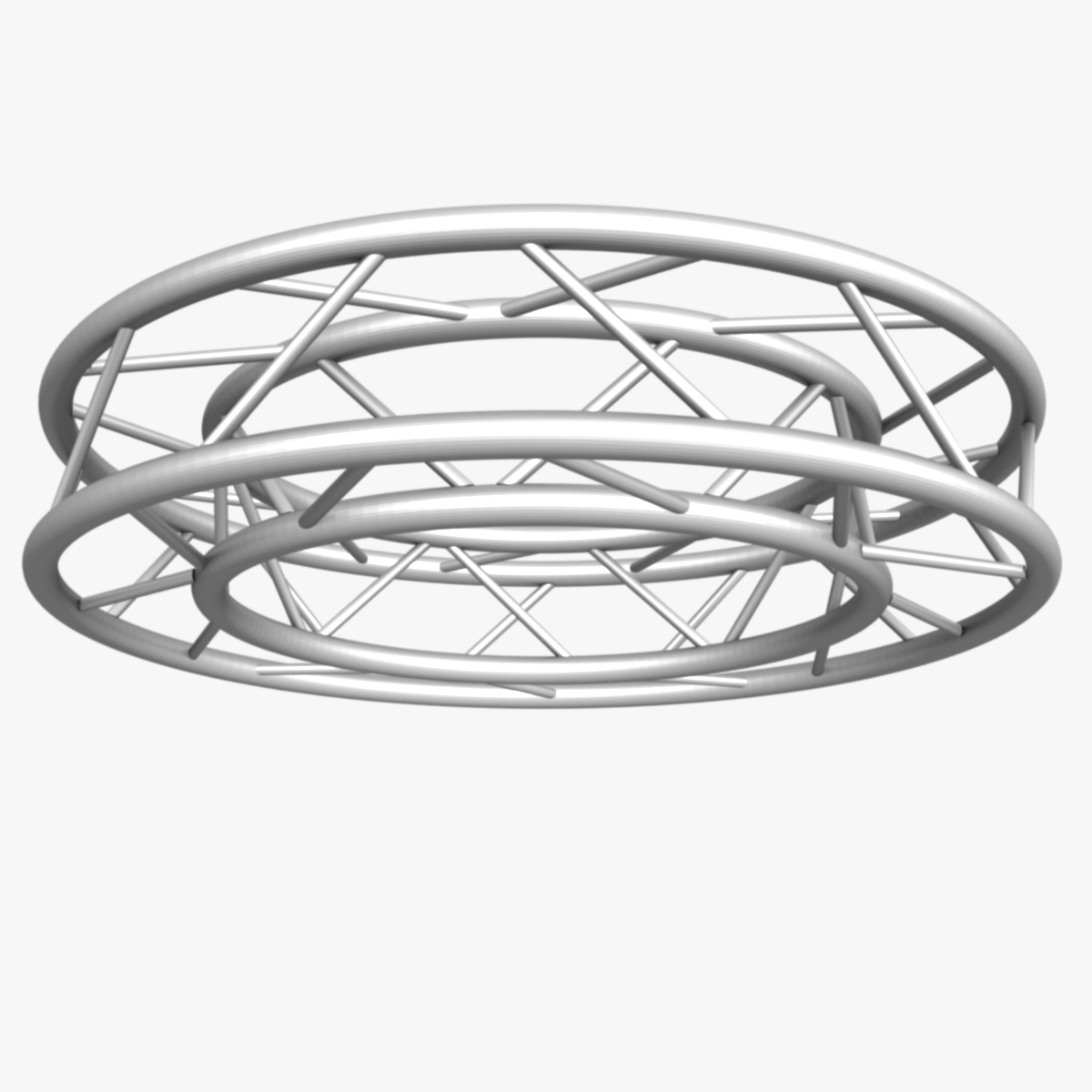 circle square truss full diameter 150cm 3d model 3ds max fbx c4d dae  obj 252298