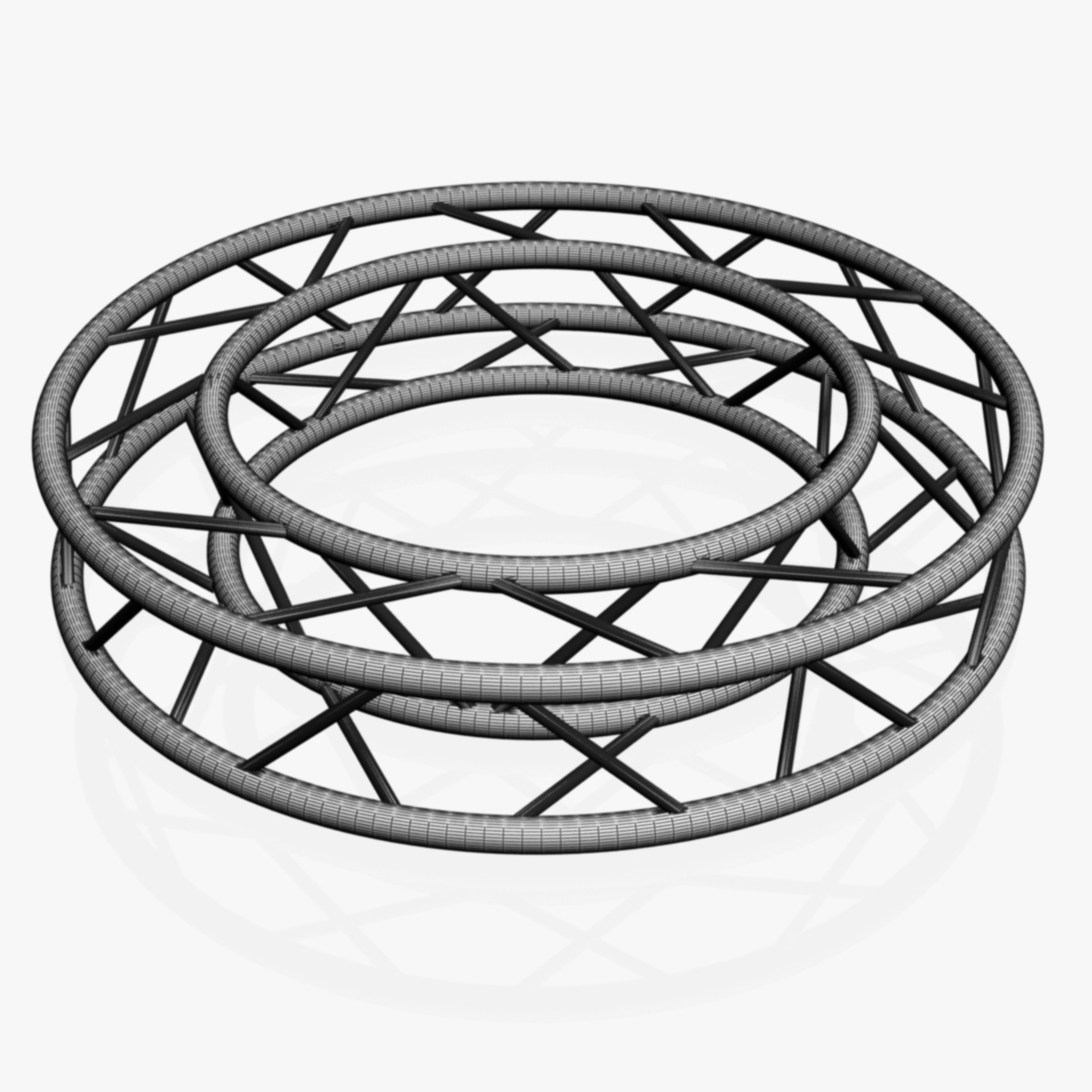 circle square truss full diameter 150cm 3d model 3ds max fbx c4d dae  obj 252300