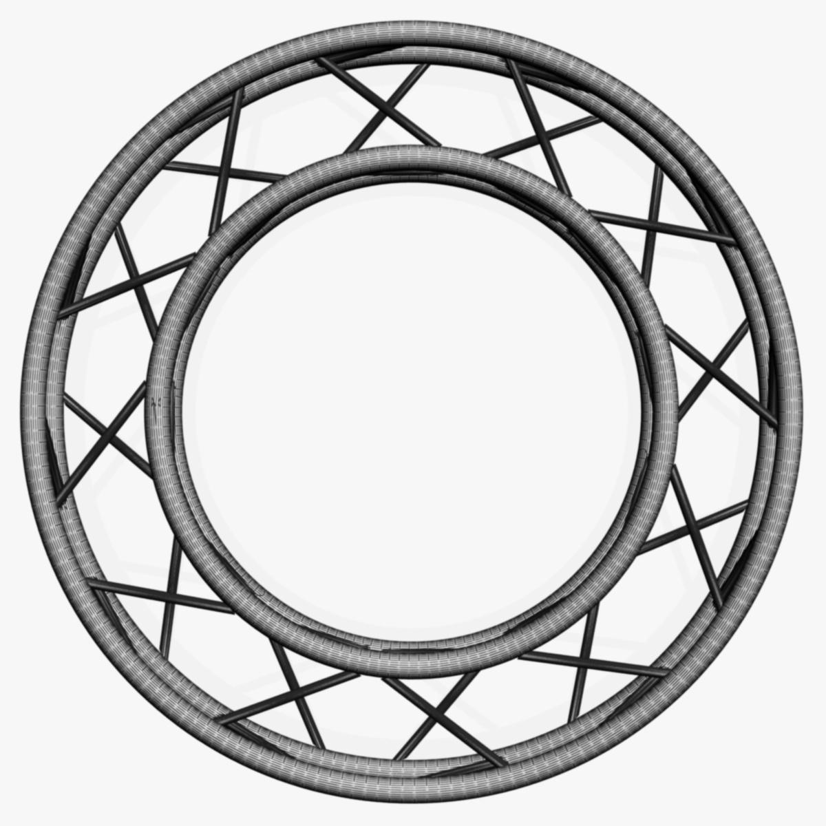 circle square truss full diameter 150cm 3d model 3ds max fbx c4d dae  obj 252301
