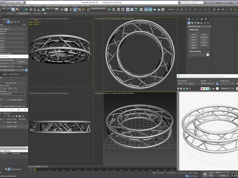Circle Square Truss Full diameter 150cm  ( 2728.64KB png by akeryilmaz )